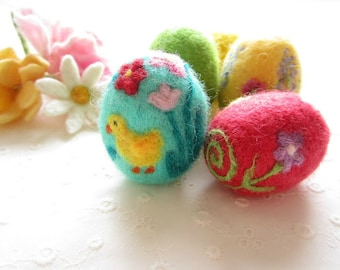 Easter Egg,Felted Egg,Needle felted Ornament,Spring Ornament