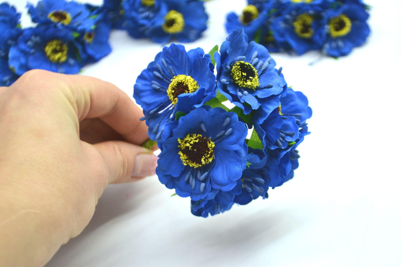 Blue poppies artificial flowers faux flowers blue flowers wedding sold by decorflowershop izmirmasajfo