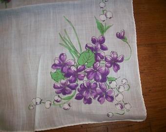 Mouchoir de coton Violet Vintage