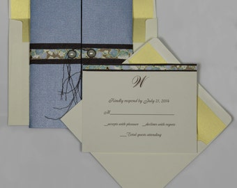 Simply Unforgettable Wedding Invitation Suite (SAMPLE CARD)