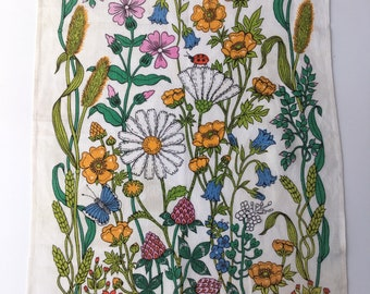 Spring Meadow Vintage Tea Towel - St Michael - Marks and Spencers