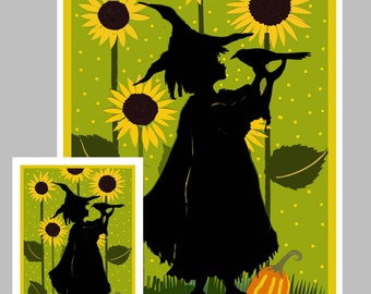 Crow Halloween Card