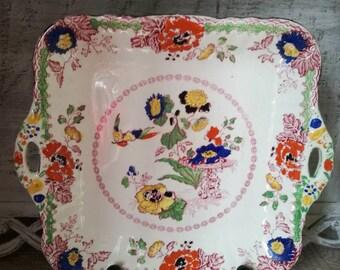 Antique English Porcelain Tray masons Persian England