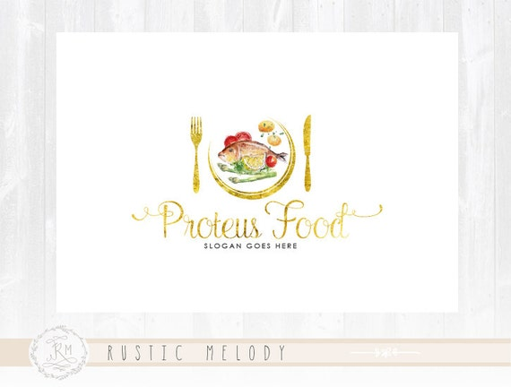 Food Logo Design Restaurant Rustic Diet