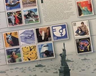 Celebrate the Century 1970 -- Unused US Postage Stamp Sheet