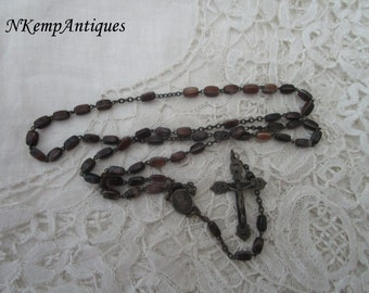 Glass rosary 1930's