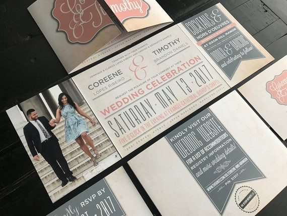 Fold Wedding Invitations: Custom Fold Wedding Invitation Suite Wedding Invitations