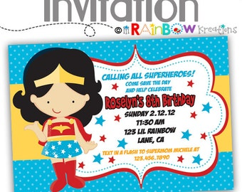 031: DIY - Super Hero Party Invitation Or Thank You Card