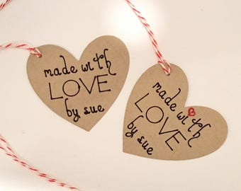 Made with Love Tags, Favor Tags, Gift Tags, Wedding Tags, Custom Tags