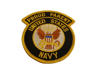 USN United States Navy Proud Parent Patch