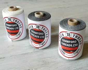 10 meters of Authentic Irish Linen Cord by Crawford, 4-ply Waxed Thread, Various Colors sold in 10 meter (10.9 yard) lengths, Jewellery Cord