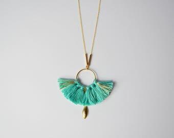 Phoenix necklace turquoise