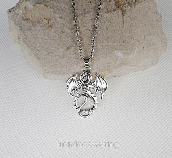 Imperial Legion Dragon Skyrim Necklace Amulet Protection Pendant