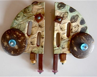 Fun, Whimsical, Lightweight Leather Earrings