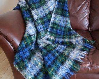 Scottish mohair tartan blanket 60 x 54 inches