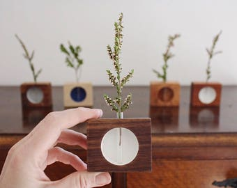 Handmade vase, minimalist, wooden vase, reclaimed wood, minimal, desk vase, office decor, vase