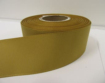 Grosgrain Ribbon 3mm 6mm 10mm 16mm 22mm 38mm 50mm Rolls, Dark Gold, 2, 10, 20 or 50 metres, Ribbed Double sided,