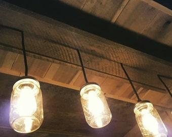 Mason Jar Barnwood Lighting