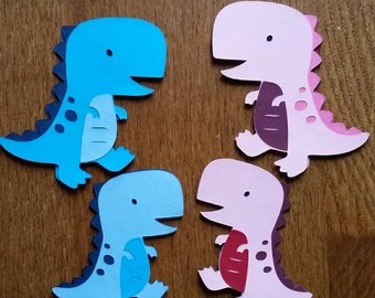 Dinosaur family, Dinosaur paper cut, Mom-dad and kids Dinosaurs, dinosaur die cuts, paper cut dinosaurs, 4 Paper Dinosaur