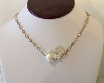 Extra Large Baroque Pearl Necklace