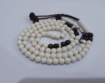 Wonderful Natural Camel Teeth Bone 100+10 Islamic Prayer Beads Misbaha Tasbih Tesbih Subha Komboloi Rosary Handmade Art