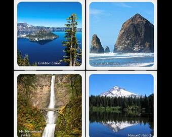 Beauté naturelle de l'Oregon - Set de dessous de plat en céramique