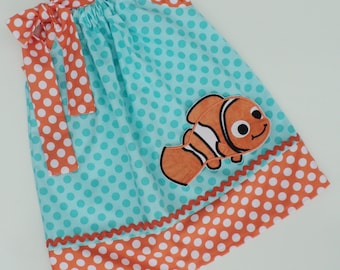 Finding Nemo Inspired Goldfish Pillowcase dress w/embroidery