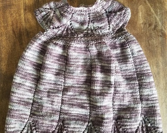 Hand knitted infant dress 0-3 months
