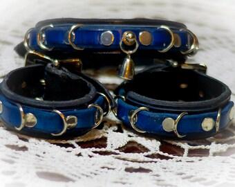 Dungeon Collar - Black Blue
