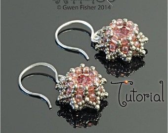 TUTORIAL Beaded Mini Crown Earrings with Modified Right Angle Weave