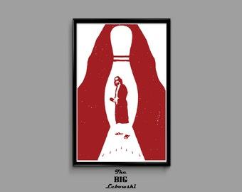 The Big Lebowski Bowling Pin 11 x 17 Movie Poster