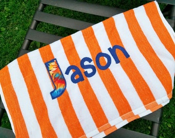 Custom Personalized Beach Towel with  Embroidery/Applique