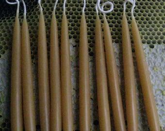 Hanukkah Canadles,  Natural Colored Bees Wax candles,