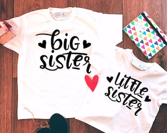 Big Sister Little Sister Set,Big Sister Little Sister Outfit,Big Sister Shirt,Little Sister Shirt,Sisters Set,Big Sister Little Sister