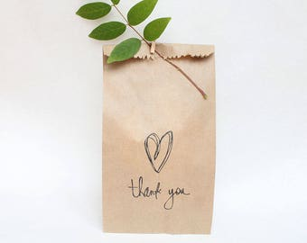 WEDDING favour bags, wedding cake bags, wedding bags, thank you bags, candy buffet bags, love FAVOUR BAGS x 10