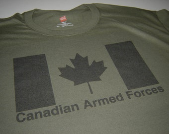 Canada Shirt Canadian Armed Forces Army Military t shirt for men and women Canadian Sellers Tshirts