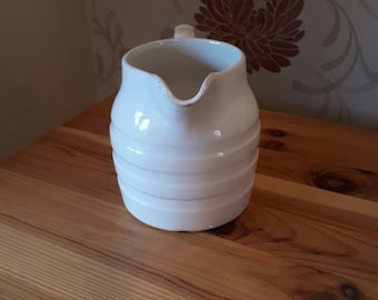 Sadler 1940s White Banded pitcher