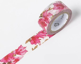 Azalea flower pink spring flowers happy mail snailmail washi tape deco masking scrapbook planner diy craft journal traveler's notebook tn