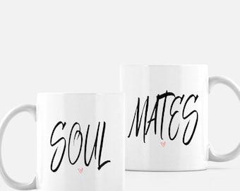Soul Mates, Wedding gift, bridal shower gift, anniversary gift, mugs, coffee mugs, tea mugs, couple gift, valentine's day gift