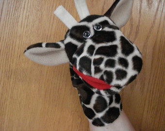 Giraffe Hand Puppet with moveable mouth
