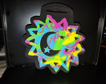 """Funky Chunky """"Funky Celestial"""" with Moon & Stars Foam Stamp, Chunky Foam Stamps"""