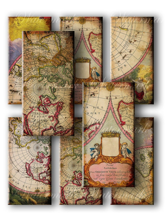 Old world map tags vintage gift tags digital collage sheet old world map tags vintage gift tags digital collage sheet download and print jpeg clip art images from memoriespictures on etsy studio gumiabroncs Gallery