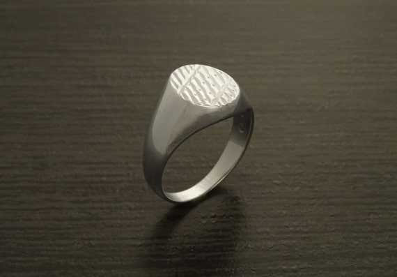 Oxford Oval Signet Ring, Man Sterling Silver Ring, Engraved Lines Ring, Signet Ring, Popular Mens Rings, Signet Ring, Mens Ring, Men gifts