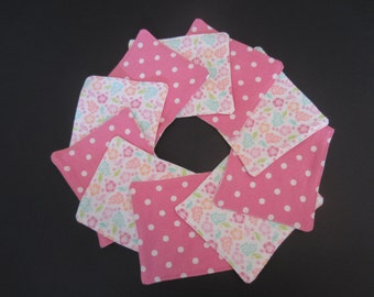 Cloth Wipes - Set of 10, Upcycled