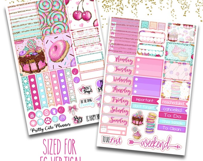Featured listing image: Happy Birthday Planner Stickers - Planner stickers - Fits Erin Condren Life Planner - Birthday Planner stickers - Birthday Week stickers