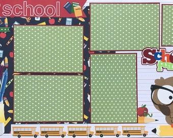 School Scrapbook Page Kit