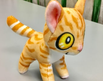 Orange Tabby Fleece Cat Plush