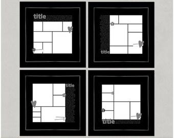 A Photo A Day Project 365 PL 12x12 - Set 2 Digital Scrapbooking Templates