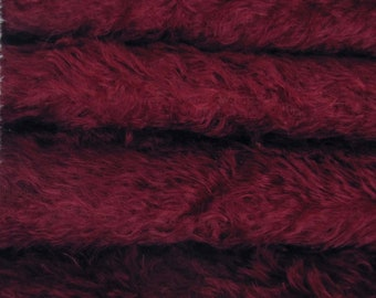 Quality 325S/C - Mohair - 1/6 yard (Fat) in Intercal's Color 139S-Cranberry. A German Mohair Fur Fabric for Teddy Bear Making, Arts & Crafts