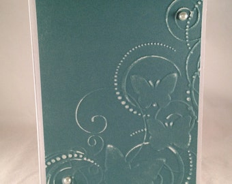 Set of 5 Butterfly Swirls CLASSIC Sympathy Cards
